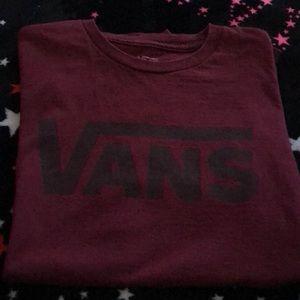 Vans t-shirt Size Medium maroon/black